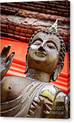 Wear-and-tear Buddha Canvas Print by Dean Harte