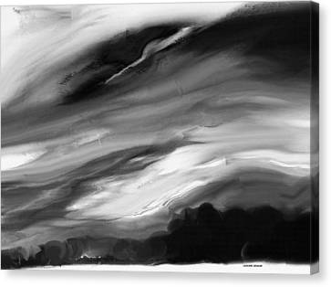 Weather In Black And White Canvas Print