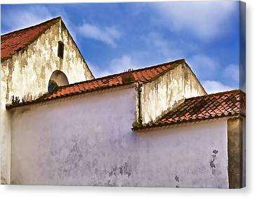 Weathered Barn Of Medieval Europe Canvas Print by David Letts