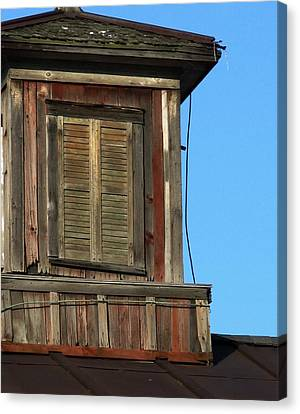 Weathered Cupola Canvas Print by Debbie Finley