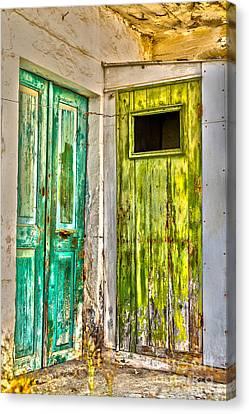 Weathered Doors Canvas Print