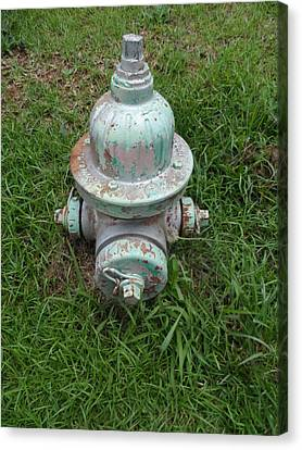 Weathered Fire Hydrant Canvas Print by James Potts