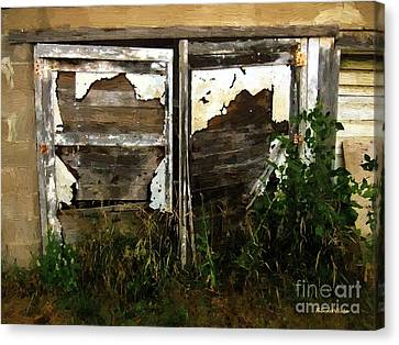 Weathered In Weeds Canvas Print by RC DeWinter