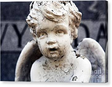 Headstones Canvas Print - Weathered by John Rizzuto