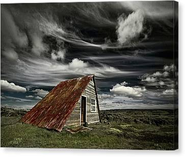 Shack Canvas Print - Weathered by ?orsteinn H. Ingibergsson