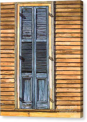 Weathered Shutters Canvas Print by John Boles