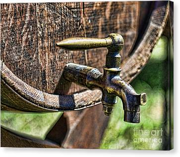 Weathered Tap And Barrel Canvas Print by Paul Ward