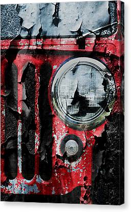 Weathered Willys Canvas Print by Luke Moore
