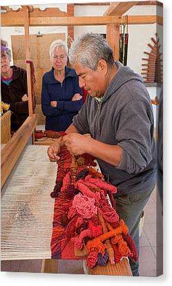Artisan Canvas Print - Weaving Demonstration by Jim West
