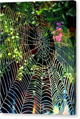 Web Of Entanglement Canvas Print by Shirley Sirois