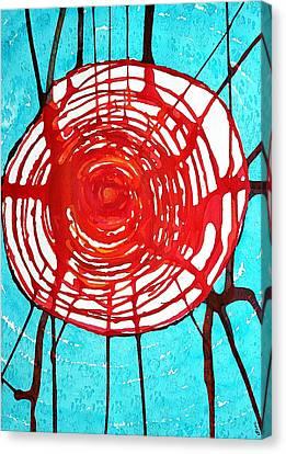 Web Of Life Original Painting Canvas Print