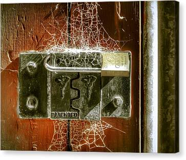 Web Gallery Canvas Print - Web Security by Wayne Sherriff