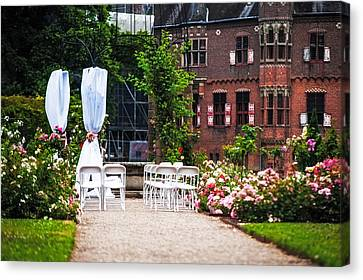 Wedding Arrangement In De Haar Castle. Utrecht  Canvas Print by Jenny Rainbow
