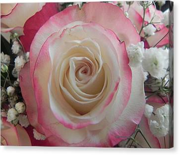 Canvas Print featuring the photograph Wedding Bouquet by Deb Halloran