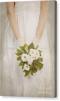 Wedding Bouquet Canvas Print - Wedding Bouquet by Jelena Jovanovic