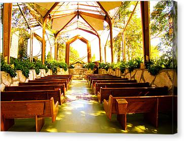 Canvas Print featuring the photograph Wedding Chapel by Joseph Hollingsworth