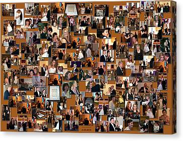 Wedding Collage Canvas Print by Thomas Woolworth