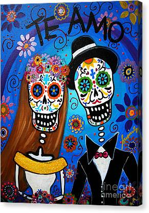 Art Sale Canvas Print - Wedding Couple  by Pristine Cartera Turkus