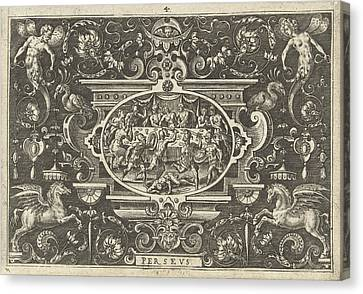 Wedding Feast Of Perseus And Andromeda, Print Maker Abraham Canvas Print by Abraham De Bruyn