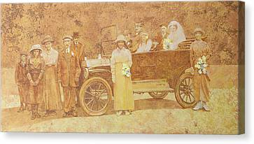Wedding Party  Canvas Print by Clive Metcalfe