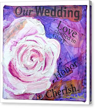 Wedding Rose Canvas Print by Lisa Fiedler Jaworski