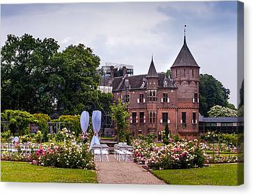 Wedding Setting In De Haar Castle. Utrecht Canvas Print by Jenny Rainbow