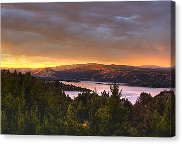Canvas Print featuring the photograph Wednesday Evening Sunset by Kandy Hurley