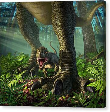 Pine Needles Canvas Print - Wee Rex by Jerry LoFaro