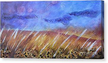 Weeds Among The Wheat Canvas Print by Jocelyn Friis