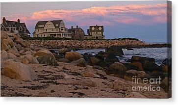 Weekapaug Ri Sunset Panorama Canvas Print by Anna Lisa Yoder