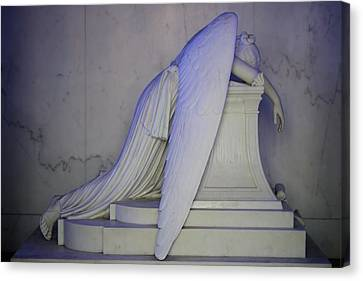 Metairie Cemetery Canvas Print - Weeping Angel by Candi Davidson