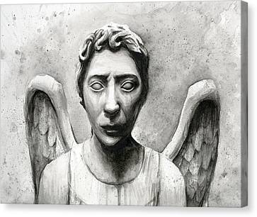 Weeping Angel Don't Blink Doctor Who Fan Art Canvas Print