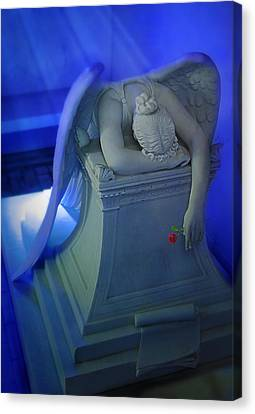 Weeping Angel Front View Canvas Print by Don Lovett