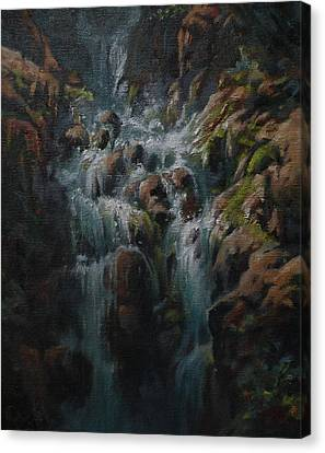 Weeping Rocks Canvas Print by Mia DeLode
