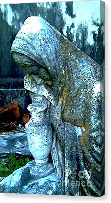 Canvas Print featuring the photograph Weeping Stone by Michael Hoard
