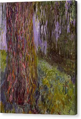 Weeping Willow Canvas Print - Weeping Willow And The Waterlily Pond by Claude Monet