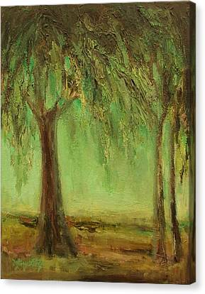 Weeping Willow Canvas Print by Mary Wolf