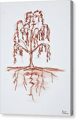 Weeping Willow With Heart And Soul Canvas Print