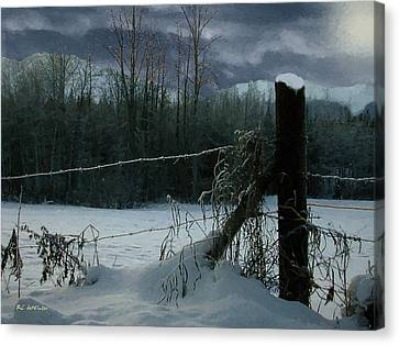 Weeping Winter Moon Canvas Print by RC deWinter