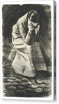 Weeping Woman Canvas Print by Vincent van Gogh
