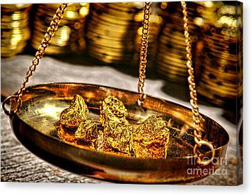 Prospector Canvas Print - Weighing Gold by Olivier Le Queinec