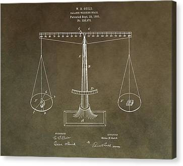 Weighing Scale Patent Canvas Print by Dan Sproul
