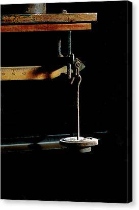Weighing Value - Vintage Fairbank Scale Canvas Print by Steven Milner
