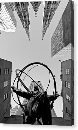 Weight Of The World Canvas Print by Michael Dorn