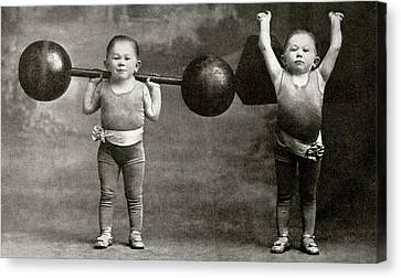 Weightlifting Dwarfism Exhibits Canvas Print