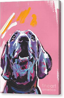 Weim Me Up Canvas Print by Lea S