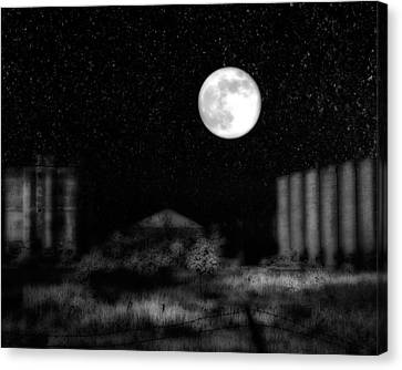 The Brilliant Full Moon Lit The Night Sky Canvas Print by Gothicrow Images