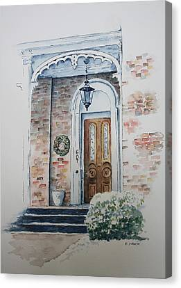 Welcome Christmas Canvas Print by Patsy Sharpe
