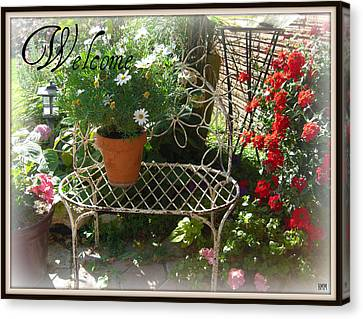 Canvas Print featuring the photograph Welcome Flowers by Heidi Manly