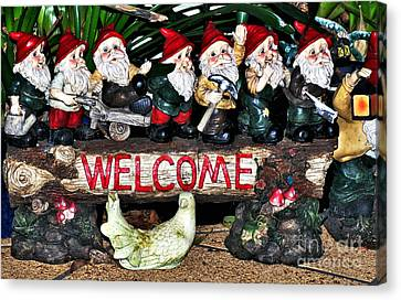 Welcome From The Seven Dwarfs Canvas Print by Kaye Menner